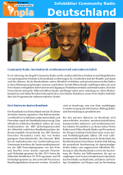 Infoblatt Community Radios Deutschland