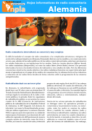 Hoja informativa radio comunitario Alemania