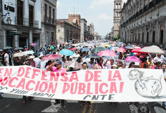 Die CNTE in Mexiko-Stadt. Foto: Pulsar