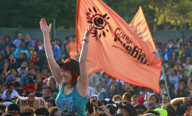 Frauen des Congreso de los Pueblos am 9. April 2015. Foto: Carmela Maria (CC BY-NC 2.0)