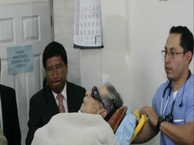 Der Ex-Diktator macht auf verhandlungsunfähig. Foto: Cerigua/La hora